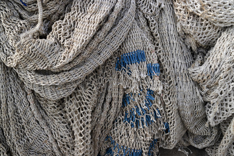 Filets de pêche s'arrêtant pour sécher photographie stock