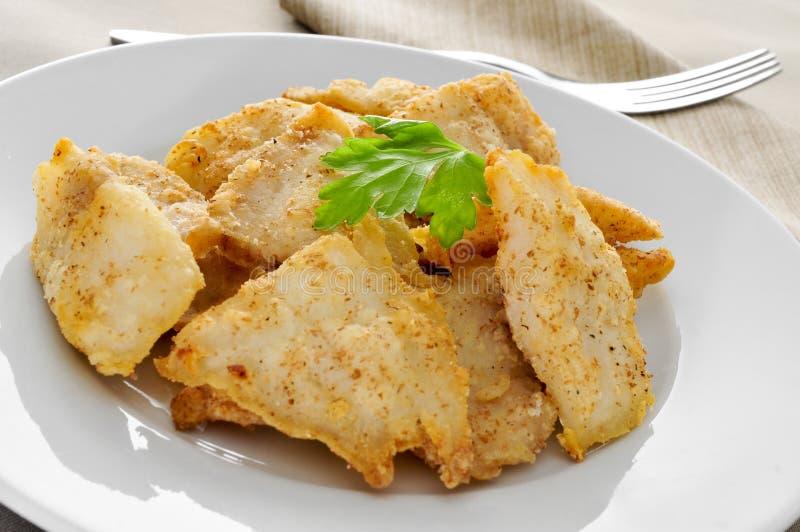 Filets panés de merluches image stock