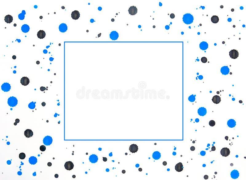Filettatura blu e grigio sullo sfondo bianco con cornice blu al centro, spazio di copia royalty illustrazione gratis