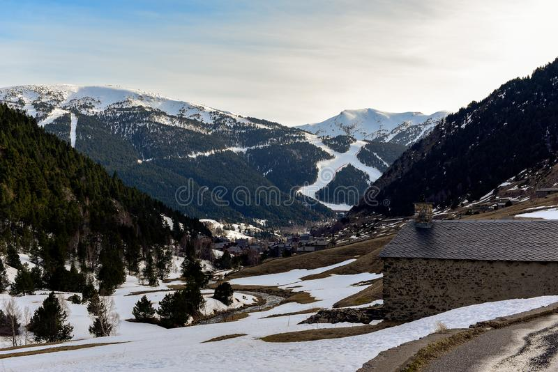 Filetti do lino di Vall d, canillo, Andorra fotografia stock