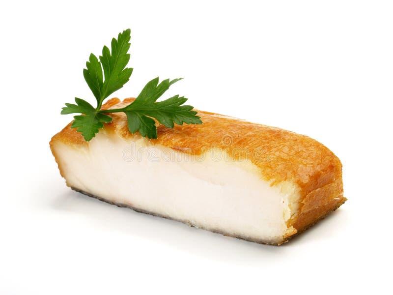 Filetto di pesce affumicato dell'halibut fotografia stock
