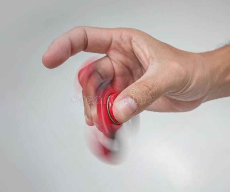Fileur rouge de main image libre de droits