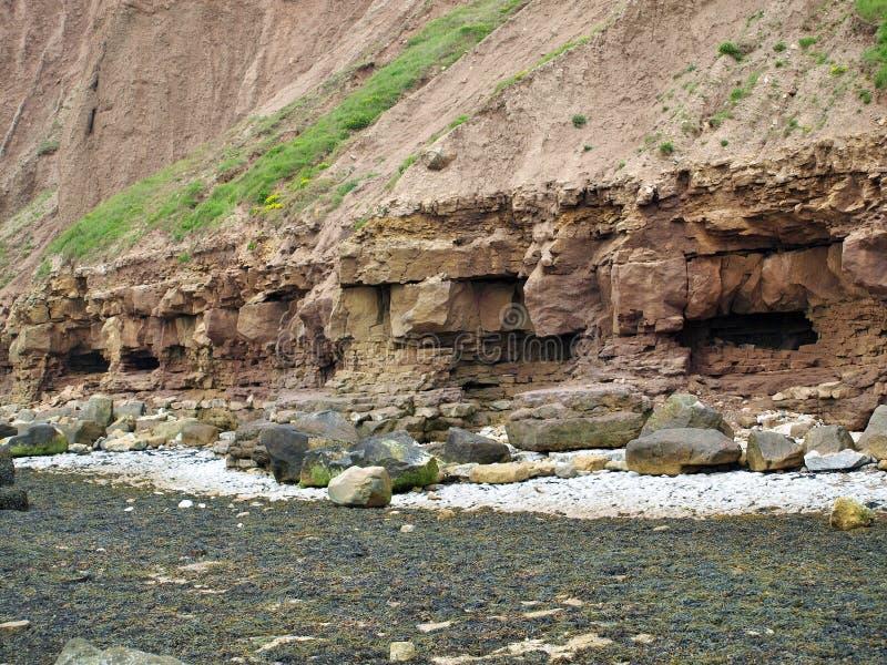 Filey brig coastal path. royalty free stock photos