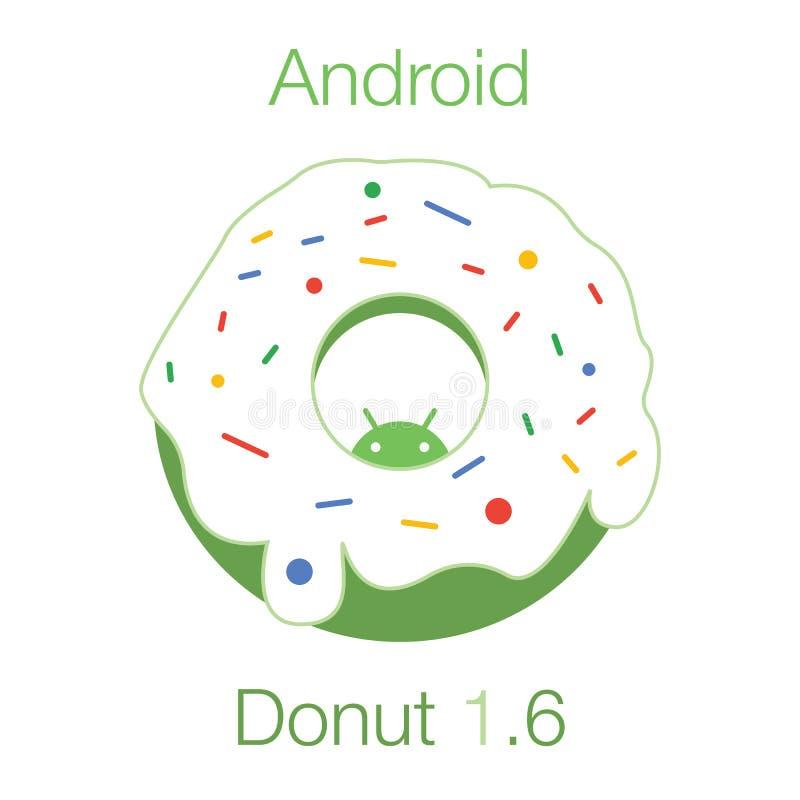 Filhós 1 de Android Vetor 6 liso ilustração do vetor