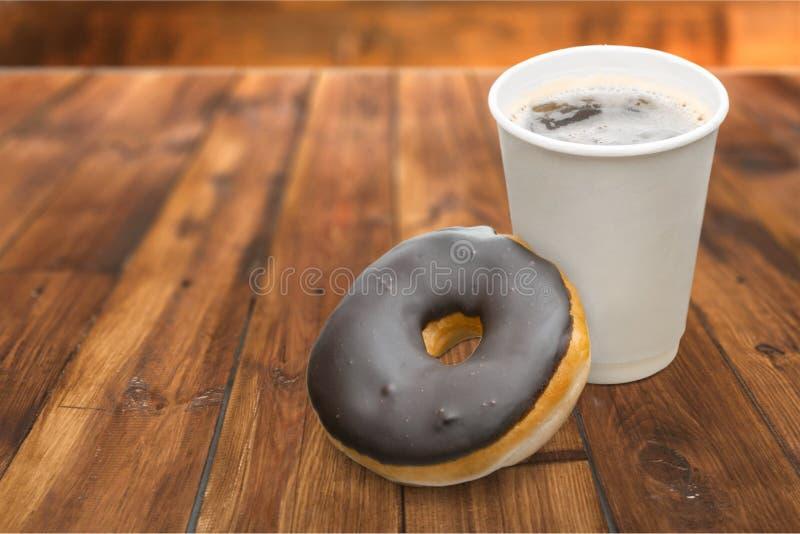 Filhós e café foto de stock