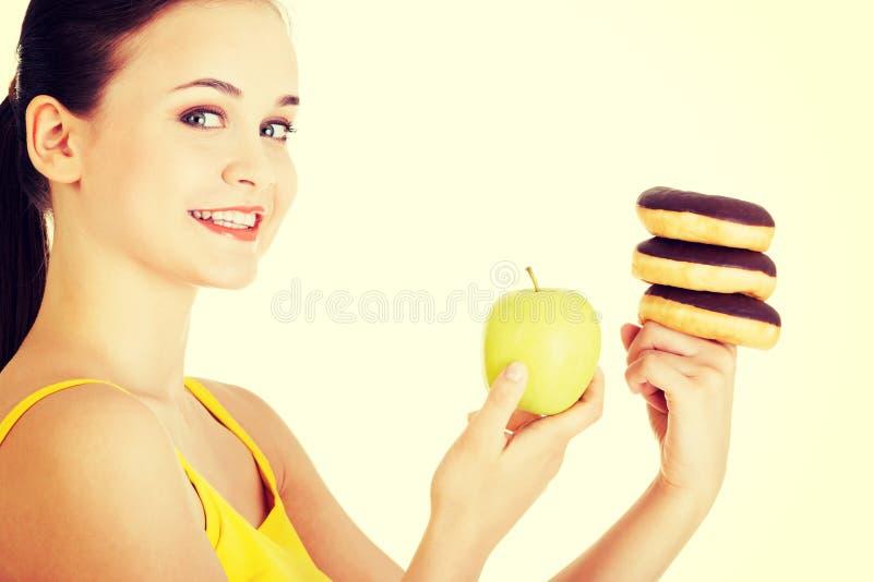 Filhós ou maçã verde - escolheu duramente imagem de stock
