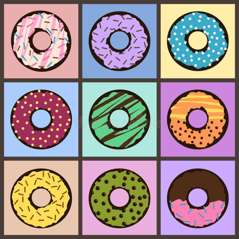 Filhóses coloridas ilustração stock
