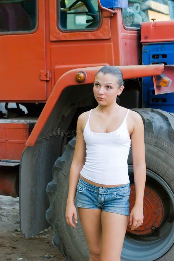 Filha do fazendeiro fotografia de stock