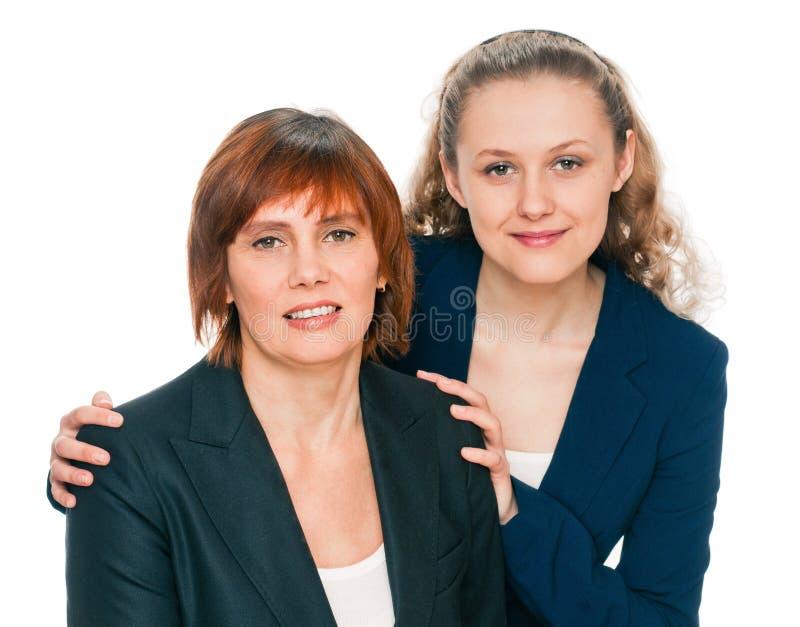 Filha e mãe imagens de stock