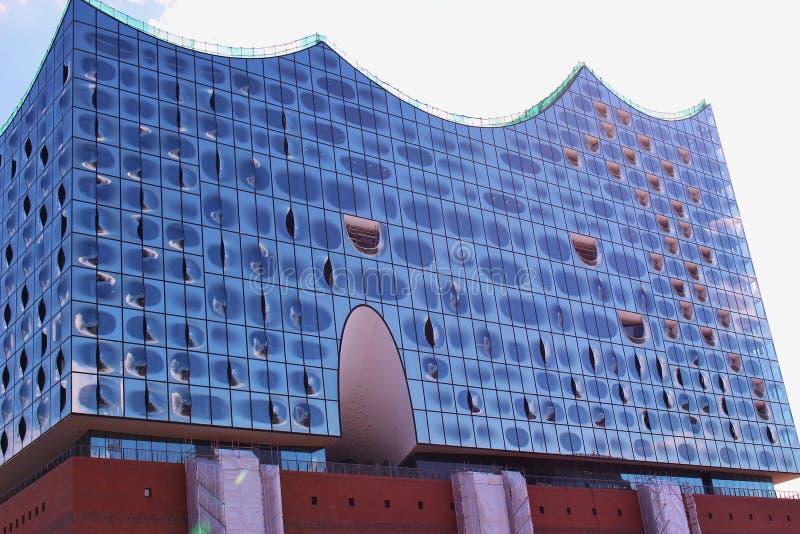 Filharmonia Elbphilharmonie w Hamburg, Niemcy zdjęcie stock