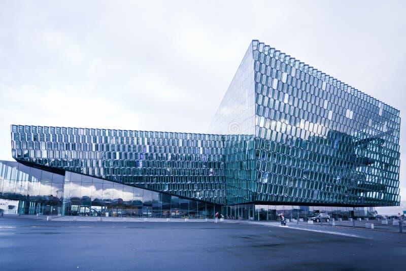 filharmonii harpa Iceland Reykjavik obraz royalty free