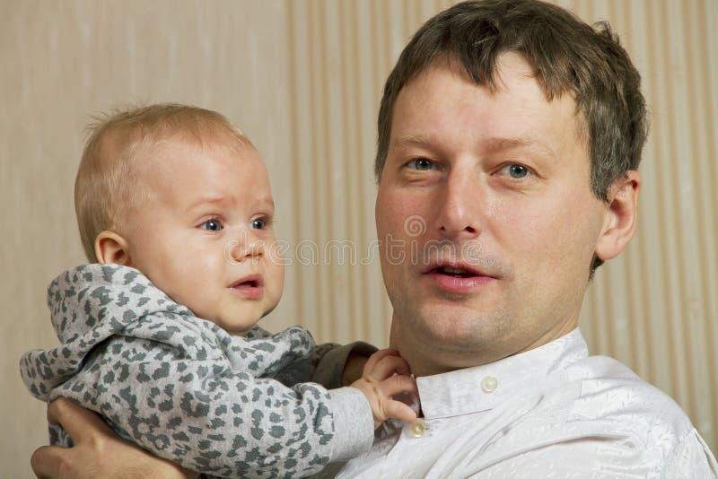 Filho e pai. imagens de stock