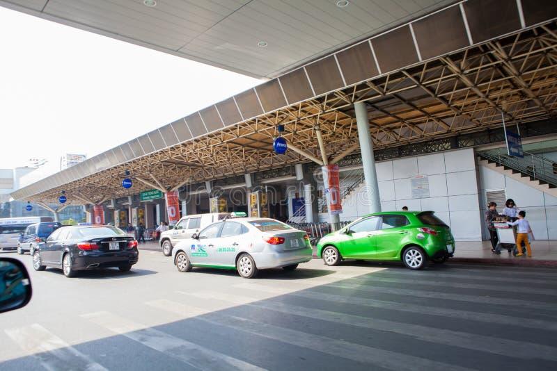 Filho Nhat International Airport de Ho Chi Minh City Tan foto de stock