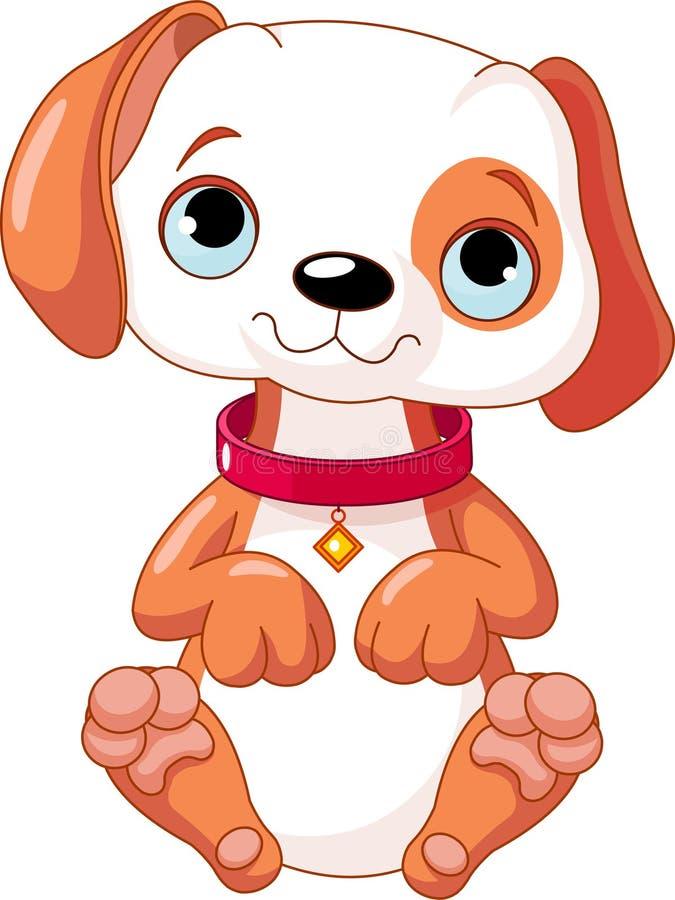 Filhote de cachorro bonito ilustração stock