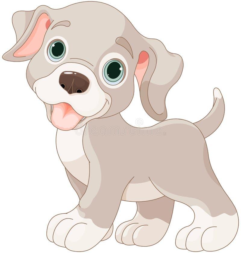 Filhote de cachorro bonito ilustração do vetor