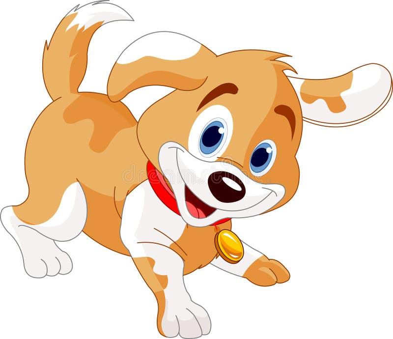 Filhote de cachorro brincalhão ilustração do vetor