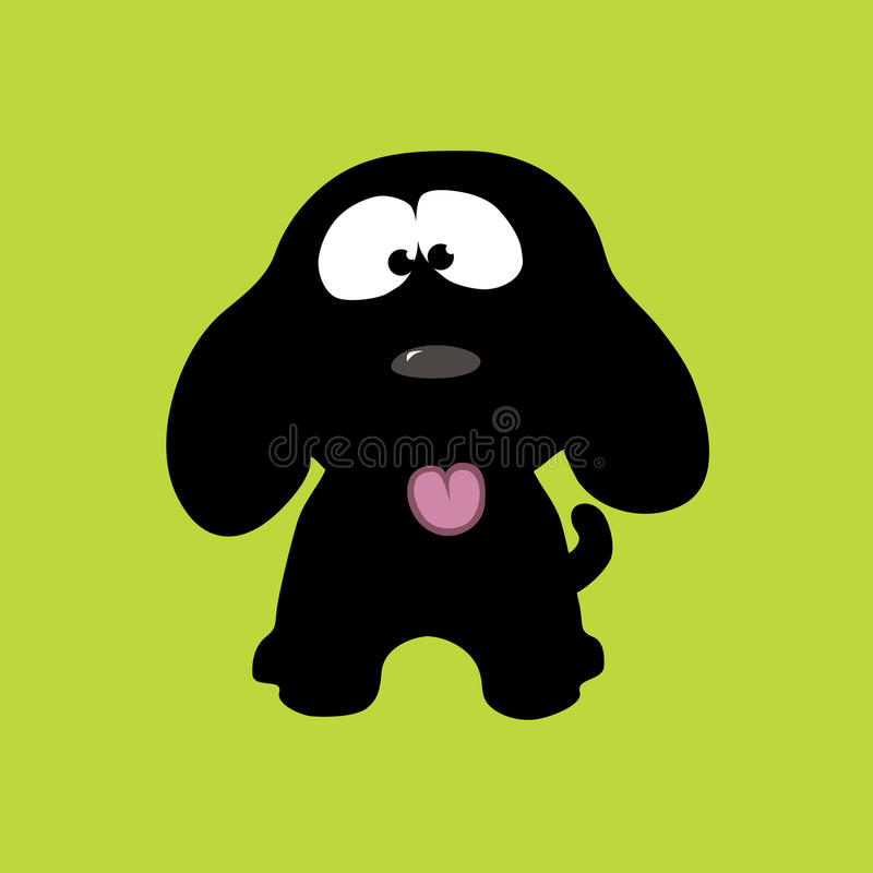 Filhote de cachorro brincalhão ilustração royalty free