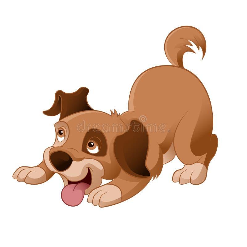 Filhote De Cachorro Dos Desenhos Animados Ilustracao Do Vetor