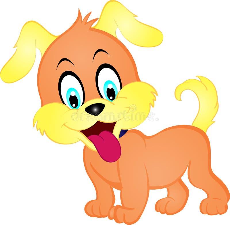 Filhote de cachorro dos desenhos animados ilustração royalty free