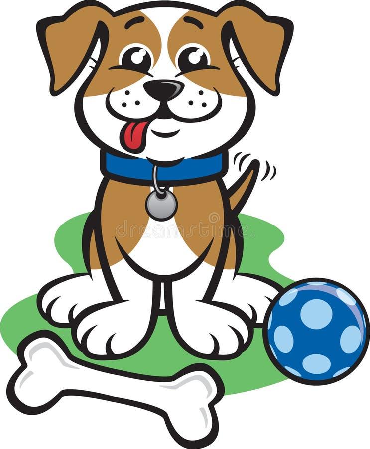 Filhote de cachorro feliz pequeno ilustração stock