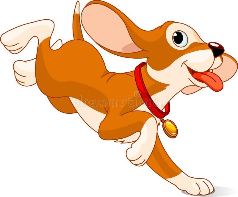 Filhote de cachorro Running ilustração royalty free