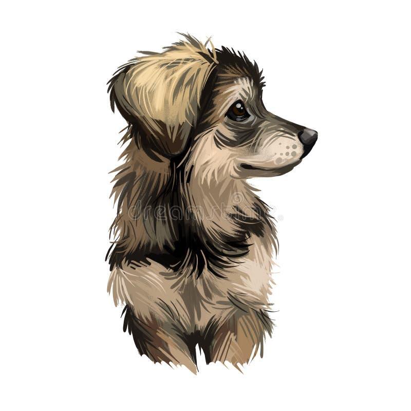 Filhote de Inuit do Norte, designer criou um cão de arte digital do Canadá ilustração do vetor