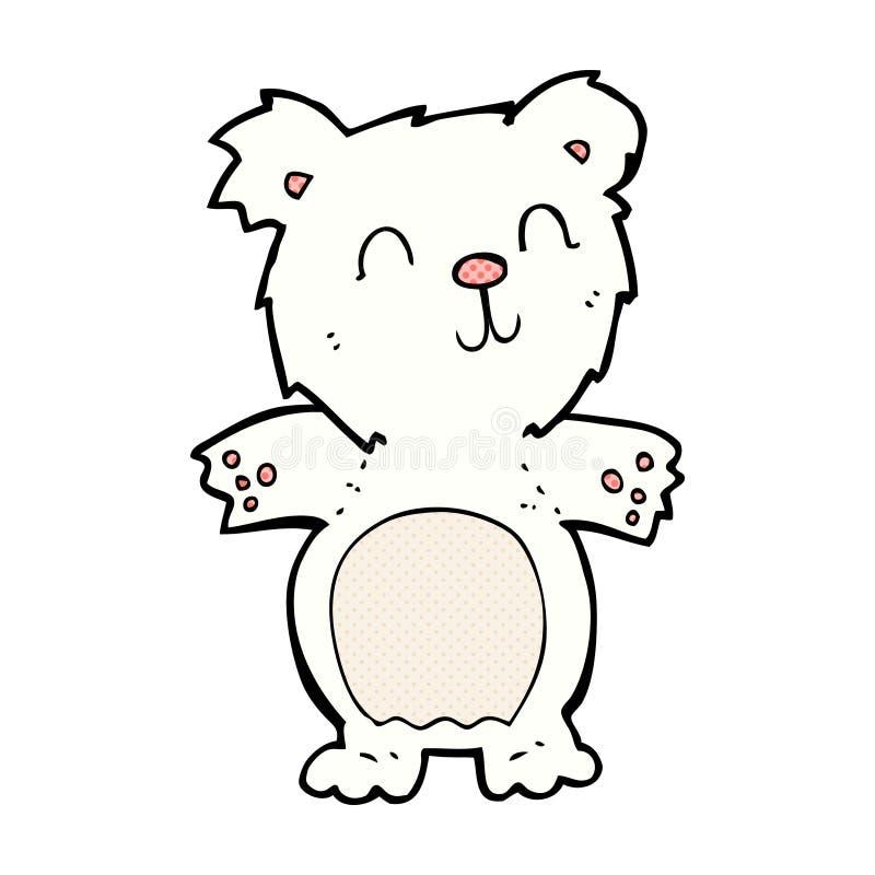 filhote de urso polar bonito dos desenhos animados cômicos ilustração royalty free