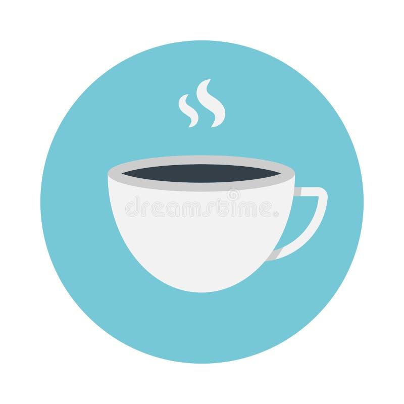 Filiżanki kawy mieszkania ikona royalty ilustracja