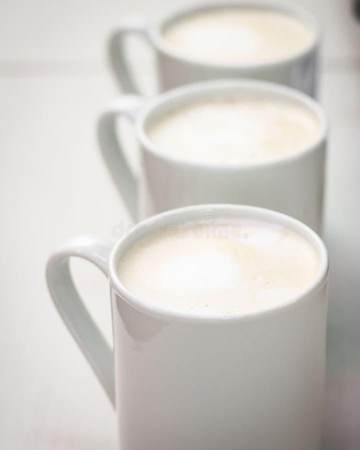 Filiżanek kawy serie zdjęcie royalty free