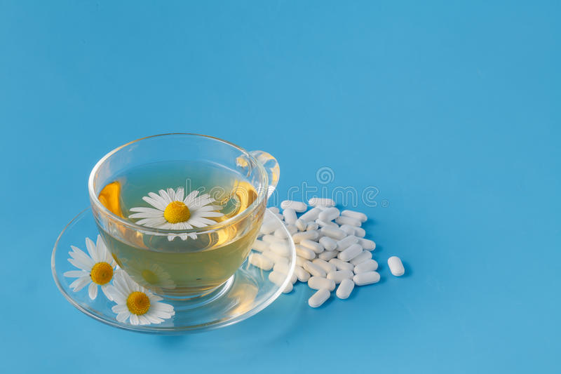 Filiżanka chamomile herbata obraz royalty free