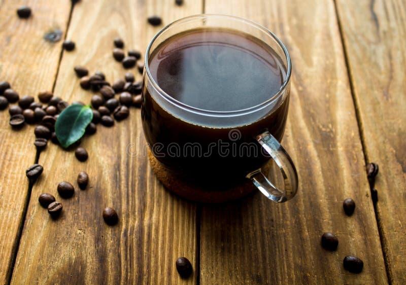 Filiżanka coffe i coffe fasole zdjęcia stock