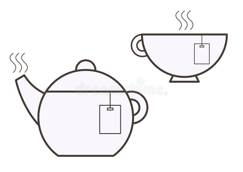 Filiżanka drużyna i dzbanek herbata zdjęcia royalty free