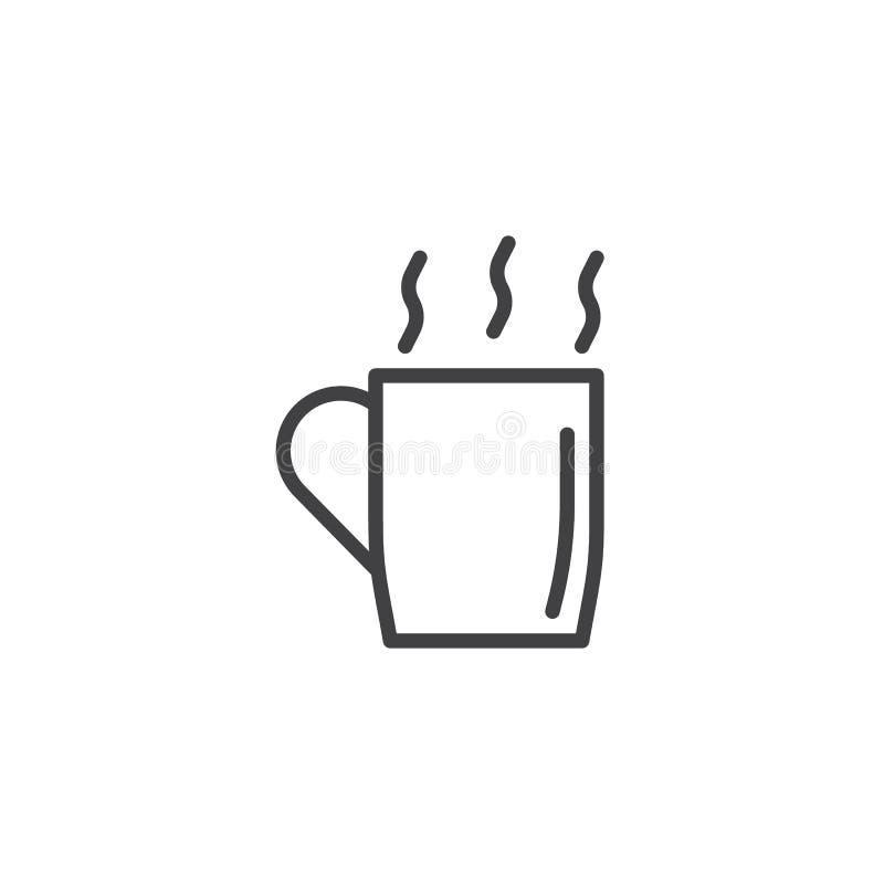 Filiżanka Gorąca napój linii ikona royalty ilustracja