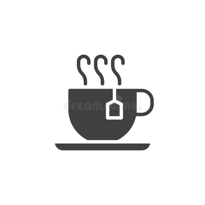 Filiżanka gorący herbaciany ikona wektor royalty ilustracja
