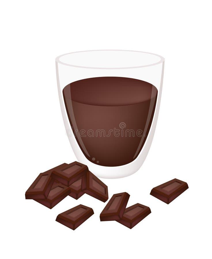 Filiżanka Gorący kakao z czekoladą royalty ilustracja