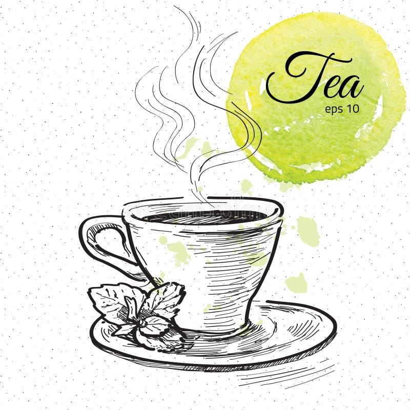 Filiżanka herbata royalty ilustracja