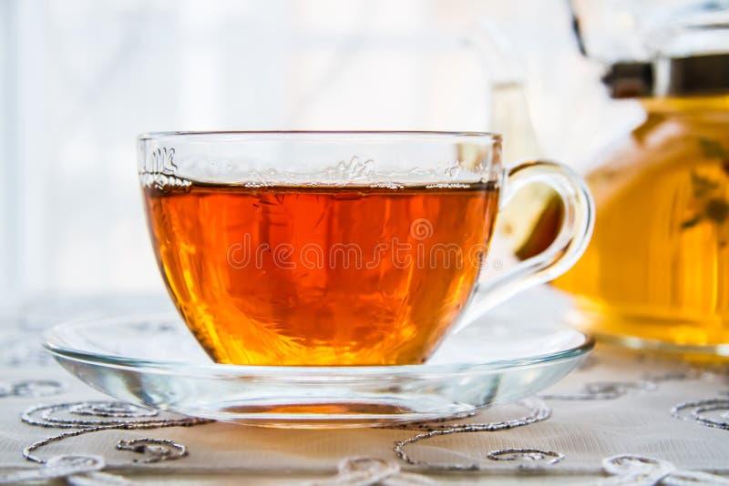 Filiżanka herbata i Teapot zdjęcia royalty free