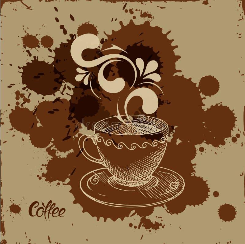 Filiżanka kawy ilustracja wektor