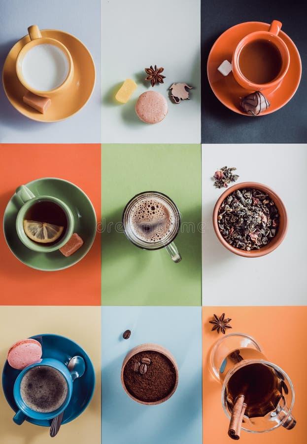 Filiżanka kawy, herbata i inny, pijemy obraz royalty free