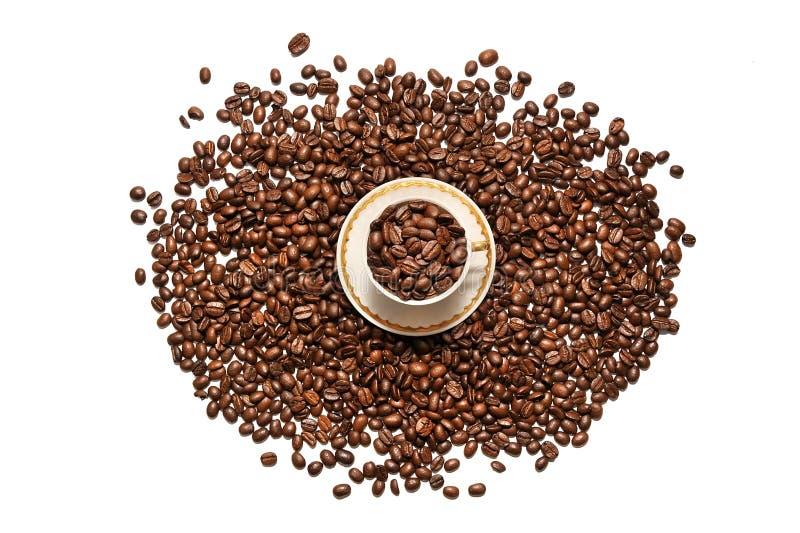 Filiżanka kawy i adra rozpraszaliśmy na białym tle obraz royalty free