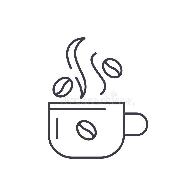 Filiżanka kawy ikony kreskowy pojęcie Filiżanka kawy wektorowa liniowa ilustracja, symbol, znak royalty ilustracja