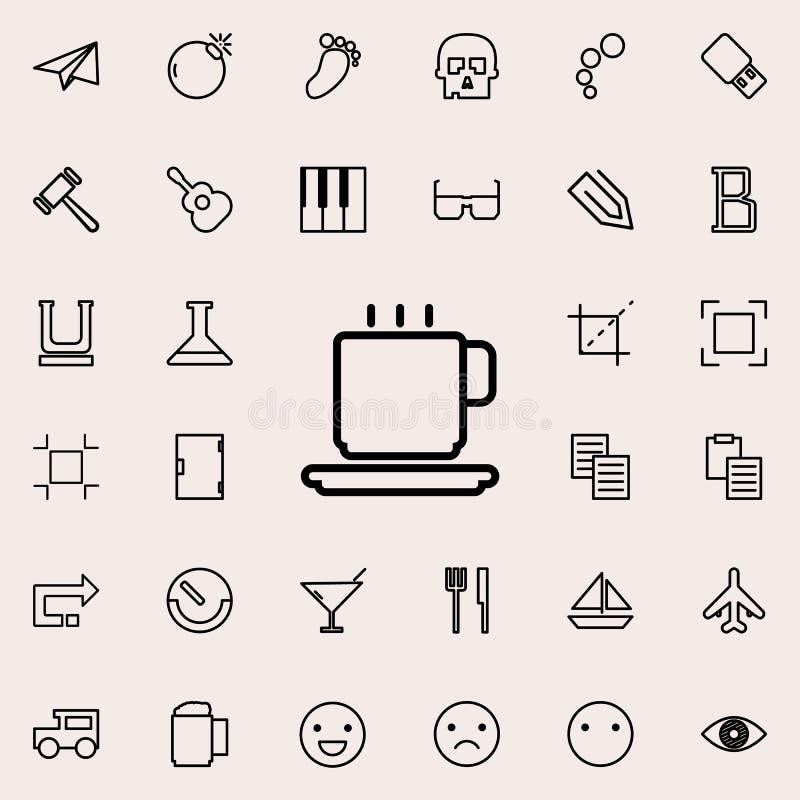 filiżanka kawy konturu ikona Szczegółowy set minimalistic kreskowe ikony Premia graficzny projekt Jeden inkasowe ikony dla sieci royalty ilustracja