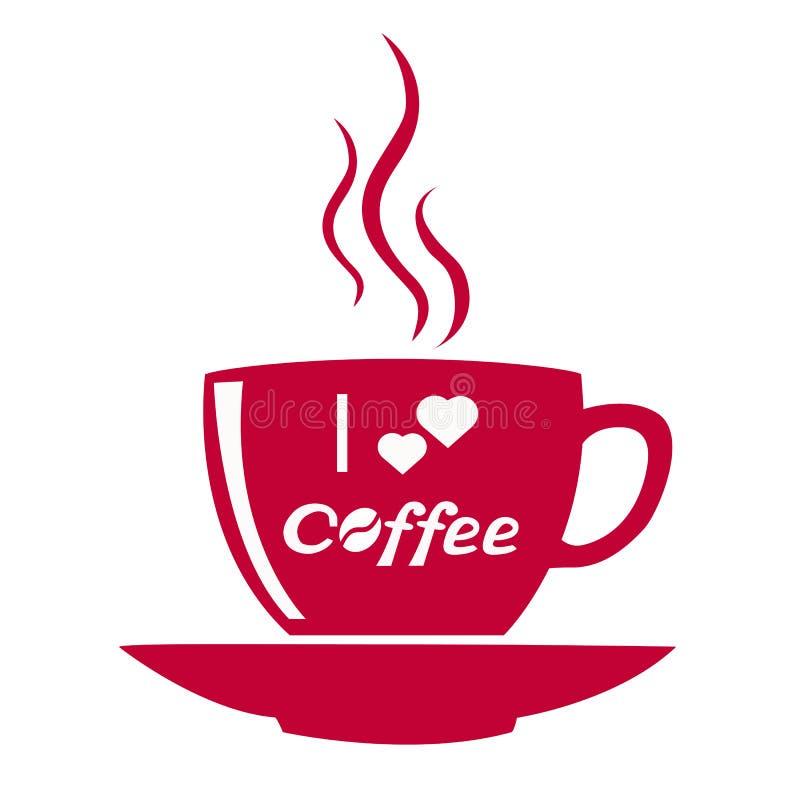 Filiżanka kawy odizolowywająca royalty ilustracja