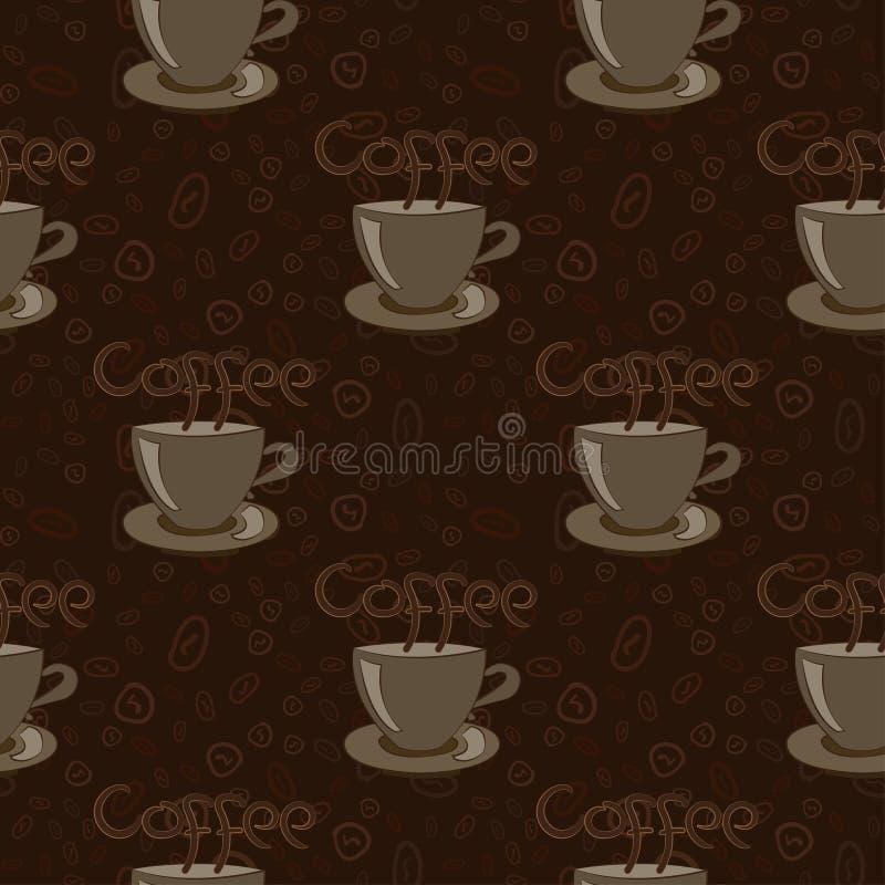 Filiżanka kawy z fasolami ilustracji