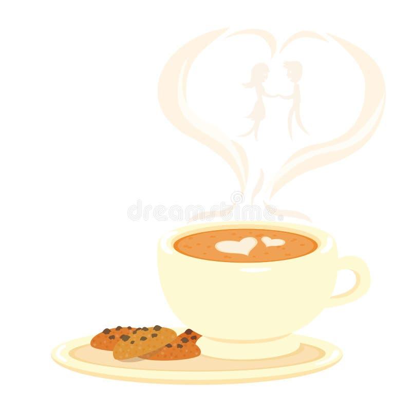 Filiżanka kawy z kierowym symbolem ilustracji
