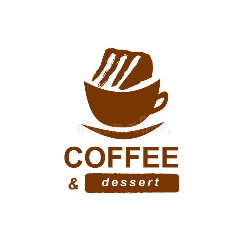 Filiżanka kawy z tortem fotografia royalty free
