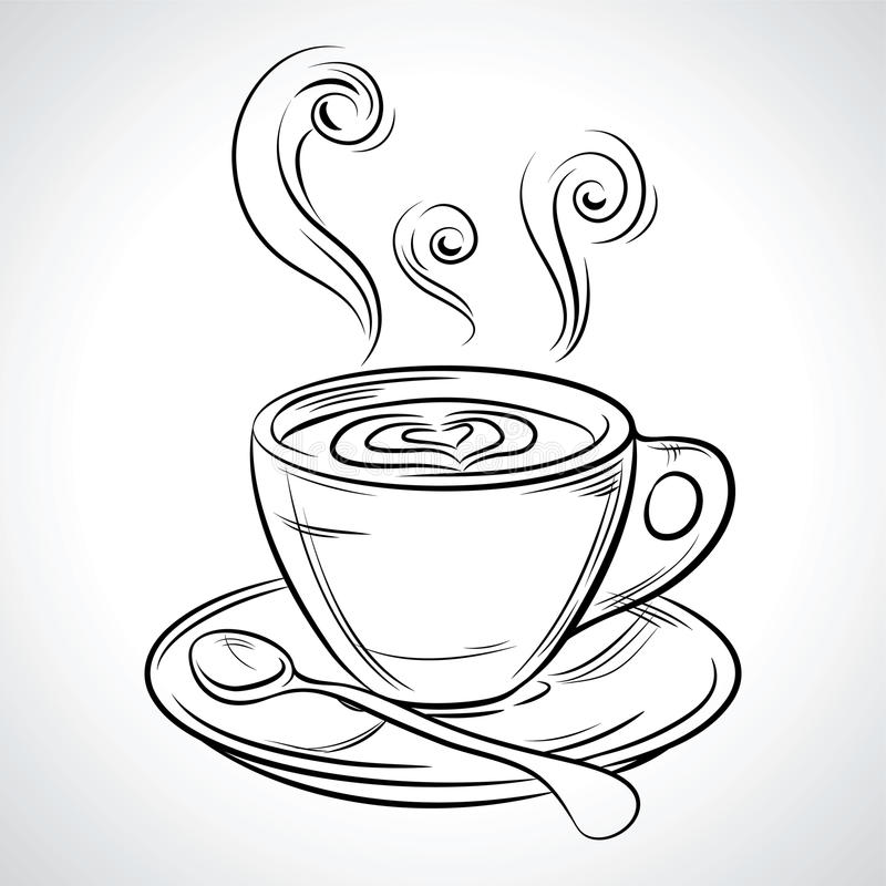 Filiżanka (kubek) gorący napój kawa, herbata (, etc ilustracji