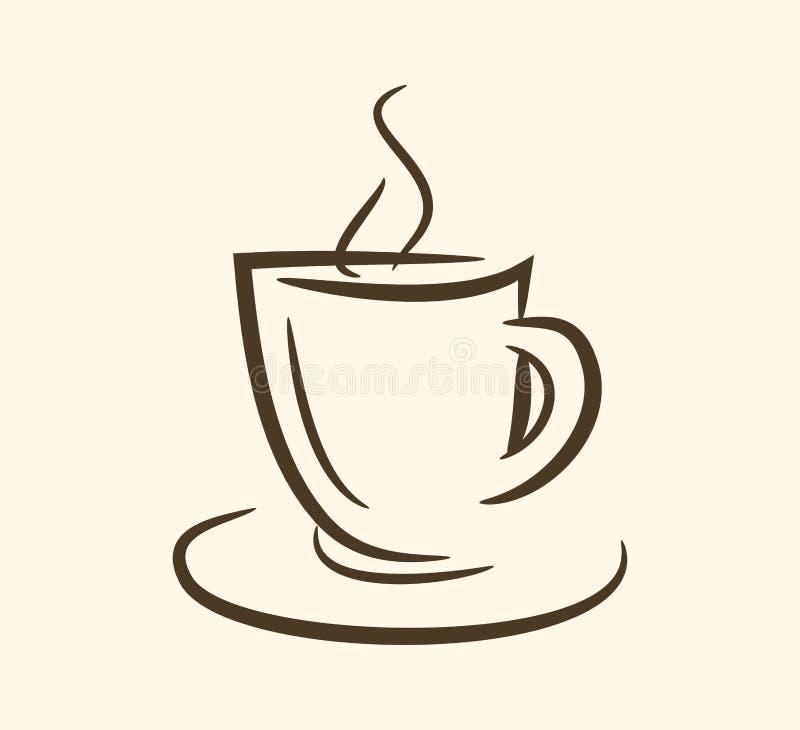 Filiżanka, kubek, gorący napój, kawa, herbata, etc ilustracja wektor