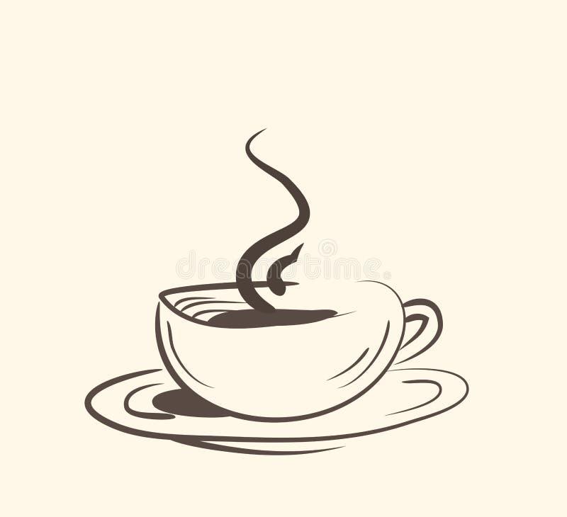 Filiżanka, kubek, gorący napój, kawa, herbata, etc royalty ilustracja