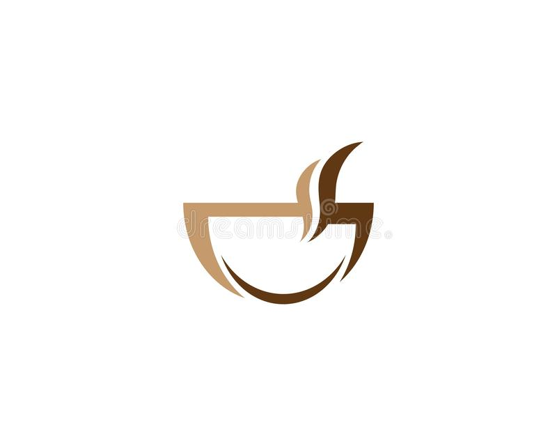 Filiżanka logo ilustracji